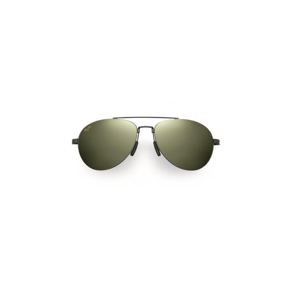 Maui Jim HT210 02 Gunmetal Black Pilot Aviator Sunglasses Polarised