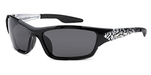 Polarized X-Loop Wrap Around Sports Sunglasses - Black & - Bikers Sunglasses For Best