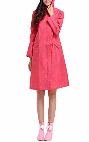 Awake Femmes Facile Port Impermable Rain Coat Wind Coat EVA 1 Par Paquet Rouge