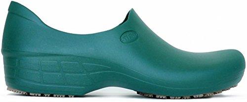 STICKY Bequeme Arbeitsschuhe für Frauen - Waterproof Slip Resistant - StickyPRO Schuhe Dunkelgrün