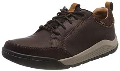 Clarks Erkek Ashcombebaygtx Boğazsız Ayakkabı, Kahverengi, 40 Numara