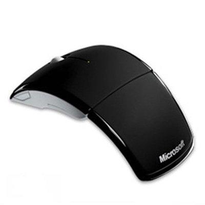 Microsoft Arc Mouse ZJA-00001 Laser - USB - Scroll Wheel - Ergonomic - Mac PC - Windows 7 Compatible - Black