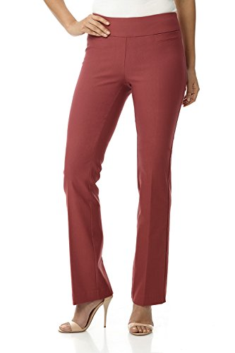 Rekucci Women's Ease in to Comfort Boot Cut Pant (4,Desert Rose)
