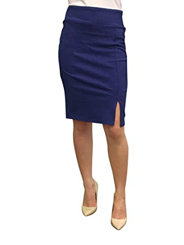 - OrlyCollection Womens Elegant Open Slit Pencil Skirt(Navy,XX-Large)