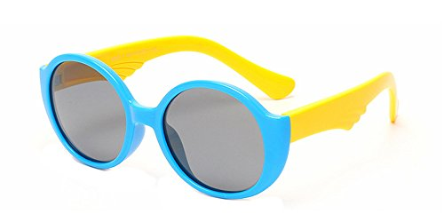 BOZEVON élégant Unisexe Ronde UV400 Lunettes de soleil pour les Enfants C4