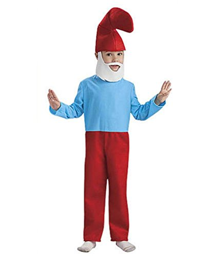 [The Smurfs Movie Child's Costume, Papa Smurf Costume] (Smurf Costume 2 Year Old)