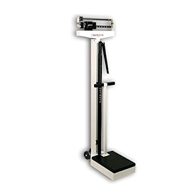 Detecto 448 Eye Level Physician Scale with Height Rod and Handpost - Pounds