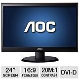 "AOC 24"" Class 1920x1080 Widescreen LED Monitor"