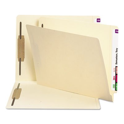 Heavyweight Folders, Two Fasteners, End Tab, Letter, 11 Point Manila, 250/Box, Sold as 250 Each