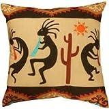 Southwest Kokopelli Decorative Throw Pillow (18 x 18)