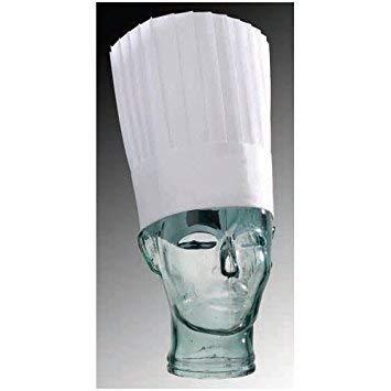 Matfer Bourgeat Disposable Hats, 8 3/4-Inch, White