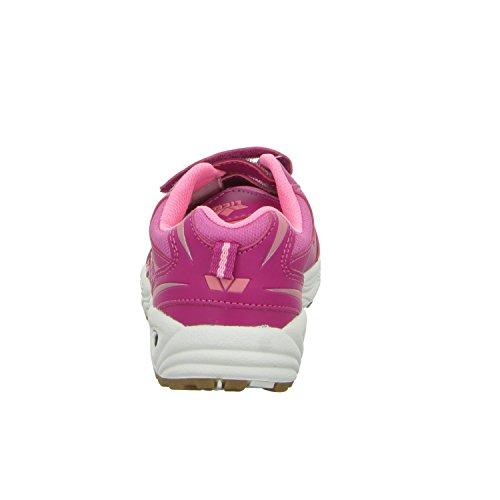 Lico BOB V - Zapatillas para deportes de interior de material sintético para niña rojo - Rot (Pink)