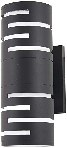 George Kovacs P1762-066-L Groovin Outdoor Wall Sconce, 1-Light LED 12 Watts, Black