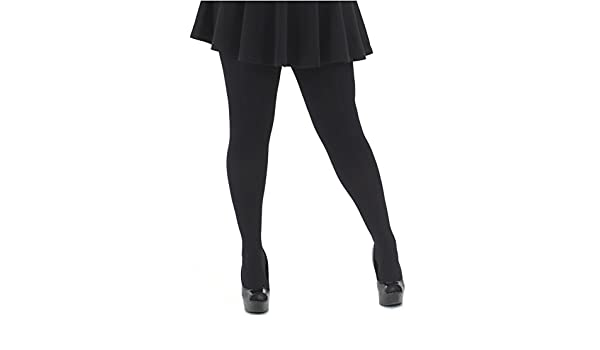 Plus Size 6x-7x Plain 40 denier Black Semi Opaque Tights