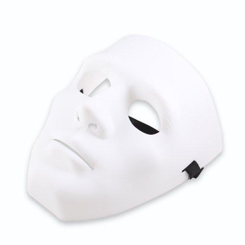 [Hiphop Jabbawockeez Mysterious Mask Cosplay Costume Party Mask White] (Plain White Mask Costume)