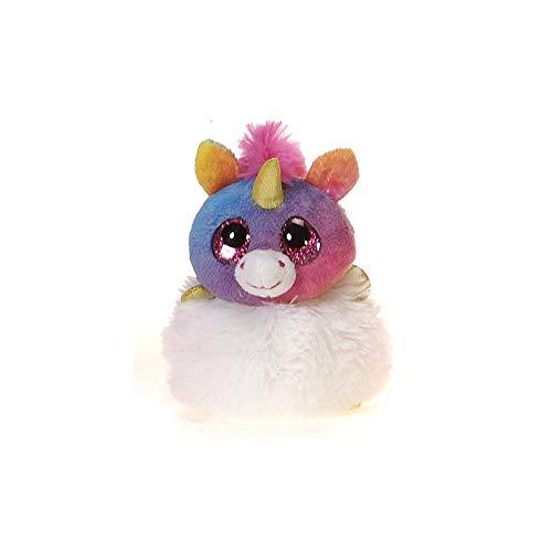 Fiesta Toys Mystie The Rainbow Unicorn Pom Pals Small Stuffed Animal Toy - 4.5 Inches -