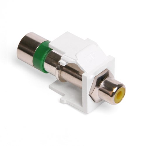 Leviton 40782-RYW QuickPort Compression RCA Connector, Yellow Insert, -