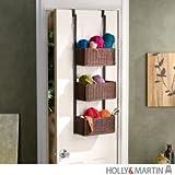 Holly & Martin Hazel Over-the-Door 3-Tier Basket Storage, BLACK
