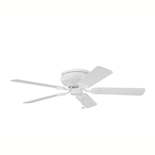 Kichler 339022WH, Stratmoor White Powder Coat Flush Mount 52 Ceiling Fan