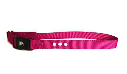 Sparky Pet Co 3/4″ E Collar Basic/Deluxe Bark Replacement 3 Consecutive Hole- 68 Dog Bark Collar (Raspberry)