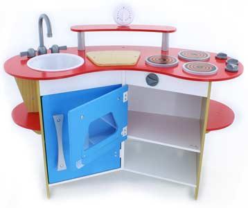 melissa doug cook 39 s corner wooden kitchen toys games. Black Bedroom Furniture Sets. Home Design Ideas
