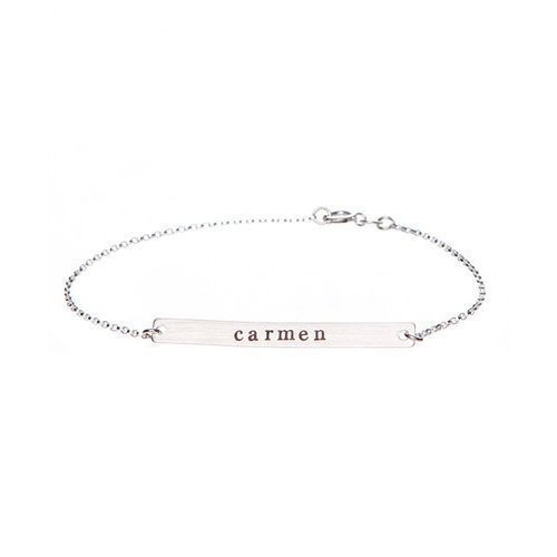 By Hannah Design Sterling Silver Personalized Bracelet