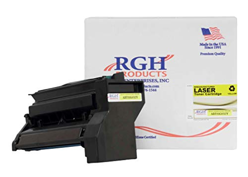RGH Products(TM) Remanufactured ABT15G032Y Yellow Toner Cartridge, Replacement for Lexmark 15G032Y, for use in Lexmark Color C752 C762 Printers