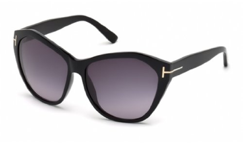 Tom Ford Tf 317 Angelina Shiny Black Frame/Gray Gradient Lens - Tom Sunglasses Ford Angelina