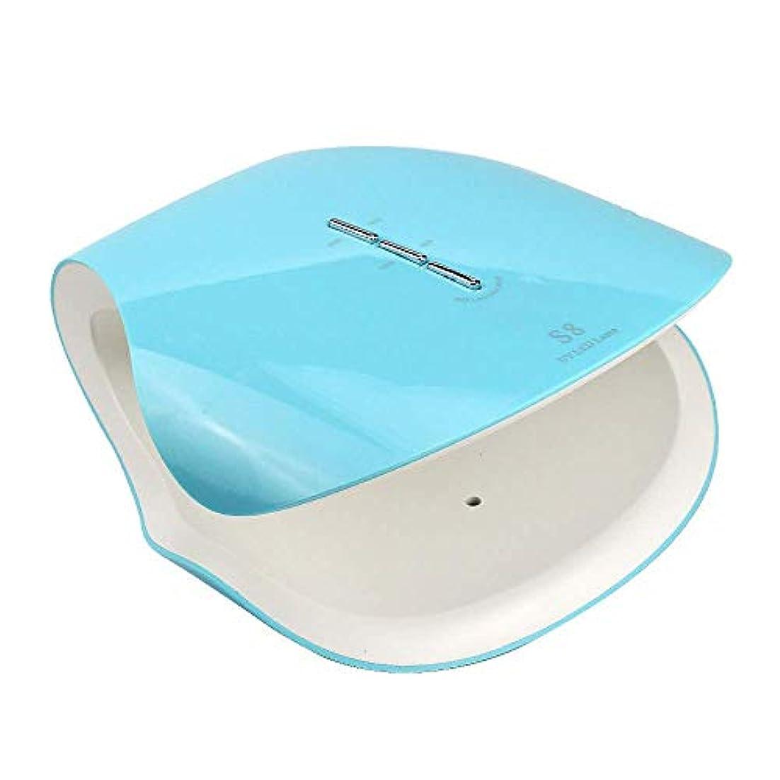 パイプ登場読みやすさ48ワットプロ硬化ネイルドライヤー機ネイルランプサロン機器uv ledライト療法ジェルポリッシュランプ適切なマニキュア、ブルー