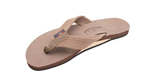 Rainbow Sandals Women's Single Layer Premier Leather Sandal, Dark Brown, X-Large / 8.5-9.5 B(M) US ()