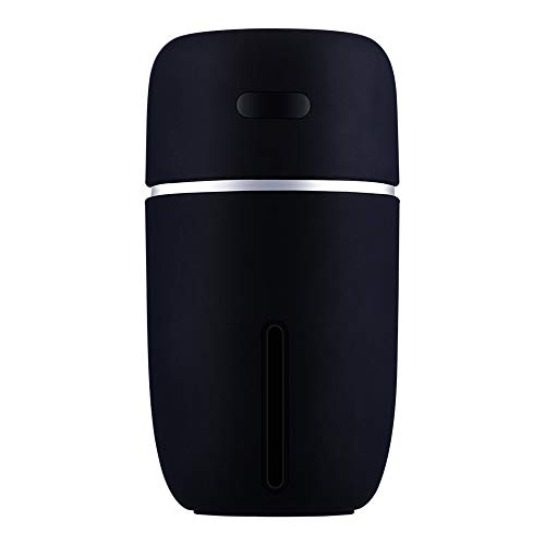 USB Humidifier, Warm Night Light Home Car Air Purifier High Capacity (Black)