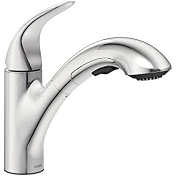 Integra Chrome One Handle Low Arc Pullout Kitchen Faucet