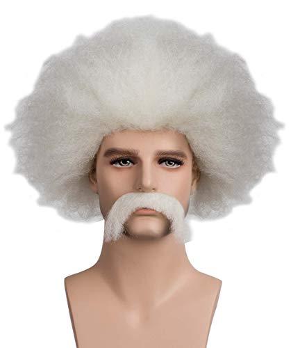 Halloween Party Online Mad Scientist Wig & Mustache Adult -