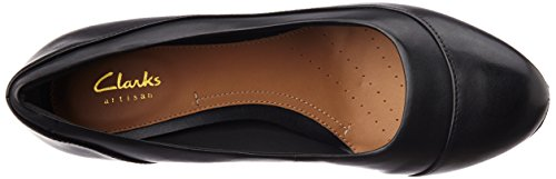Clarks Denny Harbour, Women's Closed-Toe Pumps Black (Black Leather)