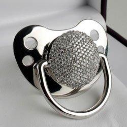 Amazon.com: Diamantes personalizados chupete: Baby