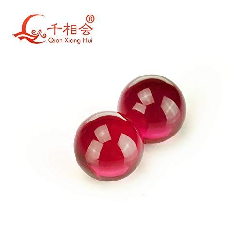 Calvas 5# red Color Sphere Shape/Ball Shape red Color Corundum Without Hole - (Item Diameter: 4mm(100pcs))