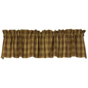 The Country House Collection Log Cabin Check Valance (72x14