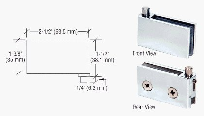 CRL Chrome Flush Mount Cabinet Pivot Hinge - Package by C R