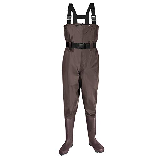 KOMEX Chest Waders Upgrate Fishing Boots Waders Hunting Bootfoot with Wading Belt Waterproof Boots Breathable Nylon and PVC Wading Boots for Men and Women (
