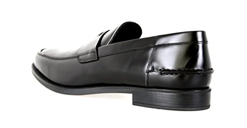 Prada Mannen 2dc085 B4l F0002 Lederen Slip Schoenen
