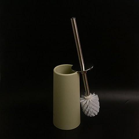 Irctek Stainless Steel Toilet Brush Closet Bowl Brush With PP Base (Light Green) - Light Green Bowl