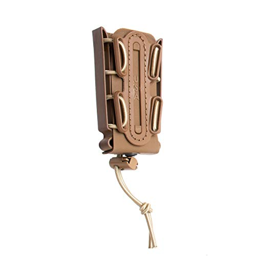 (G-CODE Limited Color(Sand) Soft Shell Scorpion -Tall- Pistol Mag Carrier with P2 Operator Belt Clip 100% Made in The USA (1143-2C))