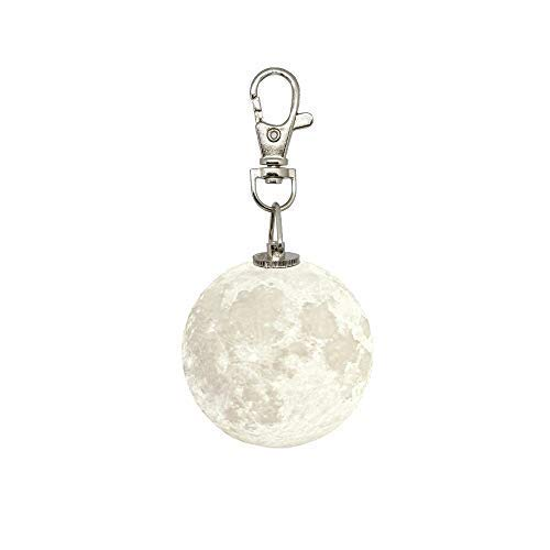 Moon Key - Maexus 3D Moon Key Chain - Gradient Light LED Night Light Keychain Accessories for Car Handbag Key Ring Backpack Keychain Novelty Gifts(Colorful)