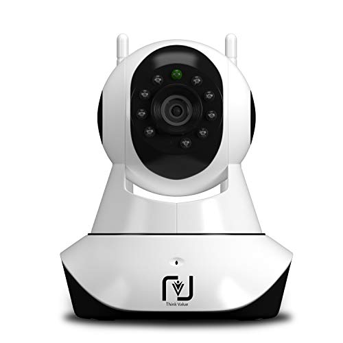 ThinkValue Wifi Wireless HD IP Security Dome Camera CCTV [Dual Antenna] Supports Upto 128Gb SD Card