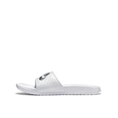 de Blanc amp; Nike Plage Piscine Chaussures Femme Benassi Jdi Wmns FxnfwqTB