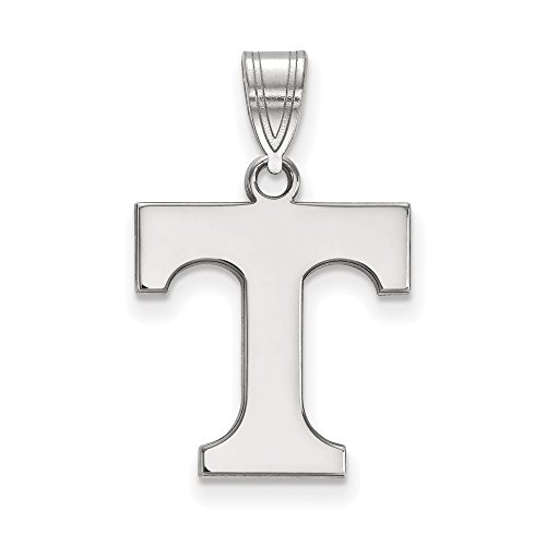 Tennessee Medium (5/8 Inch) Pendant (10k White Gold) by LogoArt
