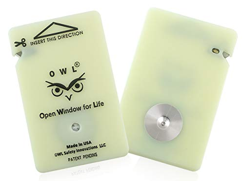 OWL Car Window Breaker with Seatbelt Cutter - Flat, Sleek & Compact Modern Design Emergency Auto Escape Tool - Breaks Car Windows in a Snap!- Fast, Reliable, Life Saving - Made in USA (Green) -