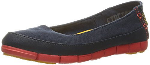 flame Stretch Piatta Crocs Navy Suola YITxq1