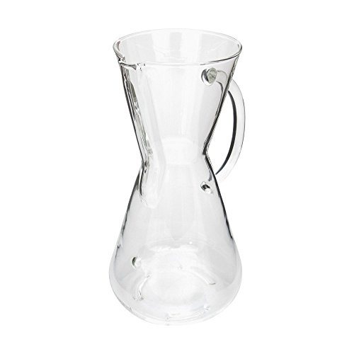 Chemex 3-Cup Glass Handle Coffee Maker with FOXGALLERY Coffee Guide
