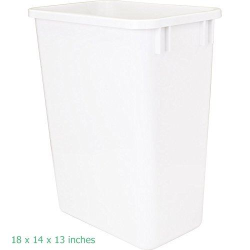 Replacement Waste Bins - Hardware Resources CAN-35W Plastic Waste Container, White